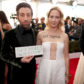 Simon Helberg and Jocelyn Towne on the red carpet of the 23rd annual Screen Actors Guild Awards