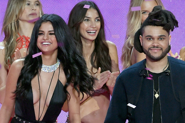 Selena Gome The Weeknd victoria's secret fashion show