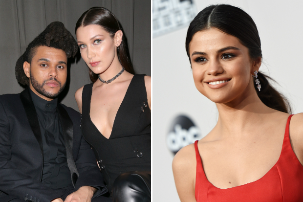 the weeknd bella hadid selena gomez