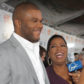 "xecutive producers Tyler Perry (L) and Oprah Winfrey are interviewed at the ""Precious: Based on the Novel ""Push"" by Sapphire"" screening"
