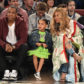 Beyoncé, Jay Z, and Blue Ivy at the 66th NBA All-Star Game