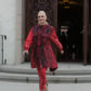 52305069 Singer-songwriter Gwen Stefani and her kids were seen leaving church in Los Angeles, California on February 5, 2017.  She wore an all red and black outfit while she was out and about. FameFlynet, Inc - Beverly Hills, CA, USA - +1 (310) 505-9876