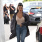 52308071 Reality stars Kim Kardashian, Kourtney Kardashian and Khloe Kardashian are spotted out for lunch at Cafe Vega in Sherman Oaks, California on February 8, 2017. Kim was sporting some futuristic sunglasses and a black leather jacket. Kim was missing her lip piercing that she debuted last month. FameFlynet, Inc - Beverly Hills, CA, USA - +1 (310) 505-9876