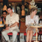 Prince Charles (L) and Diana Princess of Wales watch 05 November 1989 Indonesian tribal dancers in Yogyakarta, Indonesia