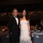 pregnant amal george clooney wife baby bump fashion gown maternity style outfit cesar awards 2017 red carpet