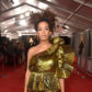 Solange on the red carpet at the 59th annual Grammy Awards