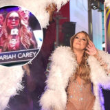 Mariah Carey Sings on a Jumbotron