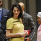 Pregnant Amal Clooney Addresses the U.N, The fight against impunity for atrocities: bringing da'esh to justice