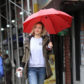 "52355279 Actress Olivia Wilde braves the rain while on the set of her  latest movie project ""Life Itself"" in New York City, New York on March 24, 2017. FameFlynet, Inc - Beverly Hills, CA, USA - +1 (310) 505-9876"