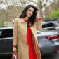 52360242 Pregnant Amal Alamuddin (Clooney) is spotted at the Chatham Hotel in London, England, UK on March 29, 2017. Amal hid her growing baby bump under a bright red dress during the outing. FameFlynet, Inc - Beverly Hills, CA, USA - +1 (310) 505-9876 RESTRICTIONS APPLY: USA/CHINA ONLY
