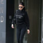 52361726 Model Bella Hadid is spotted stepping out and catching a ride in New York City, New York on March 30, 2017. The always fashionable Bella was sporting an all black ensemble during her outing. FameFlynet, Inc - Beverly Hills, CA, USA - +1 (310) 505-9876