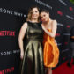 Mandy Teefey and Exec. Producer Selena Gomez seen at Netflix '13 Reasons Why' Premiere at Paramount Studios on Thursday, March 30, 2017, in Los Angeles, CA. (Photo by Steve Cohn/Invision for Netflix/AP Images)