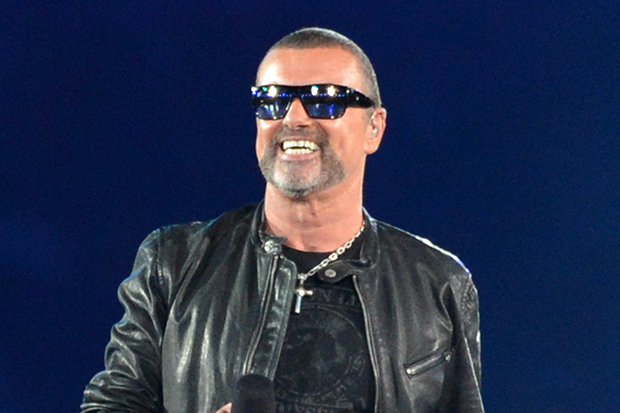 British musician George Michael performs