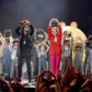Skip Marley and Katy Perry perform onstage at the 2017 iHeartRadio Music Awards