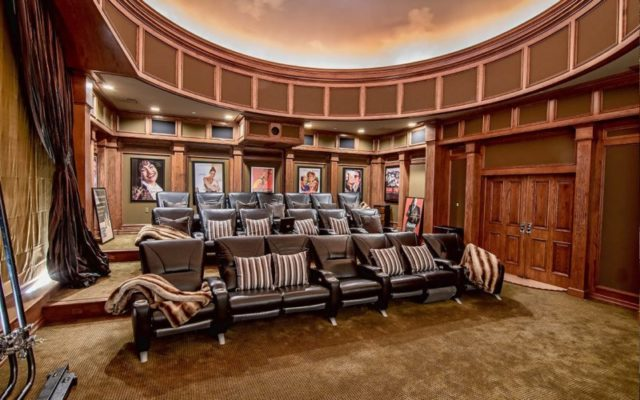 jennifer lopez home theater mansion screening room house