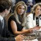 Canadian Prime Minister Justin Trudeau speaks alongside Ivanka Trump (C), daughter of US President Donald Trump, and Dawn Farrell (R), President and CEO  of TransAlta Corporation, during a roundtable discussion on women entrepreneurs and business leaders in the Cabinet Room of the White House in Washington, DC, February 13, 2017. / AFP / SAUL LOEB        (Photo credit should read SAUL LOEB/AFP/Getty Images)