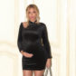 beyonce pregnant baby bump black bodycon velvet dress gucci person beyhive choker