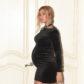 beyonce pregnant baby bump black bodycon velvet dress gucci person beyhive choker