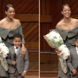 This Cute Little Boy Gave Flowers to Rihanna