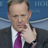 Sean Spicer's Upside-Down American Flag Pin Causes a Stir on Twitter