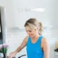 Ali Fedotowsky dying Easter eggs