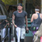 52374290 Retired soccer star David Beckham is seen leaving SoulCycle in Brentwood, California on April 11, 2017. David worked up a sweat during his workout session as he came out wearing a sweat drenched t-shirt. FameFlynet, Inc - Beverly Hills, CA, USA - +1 (310) 505-9876