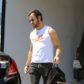 52379966 Actor Justin Theroux leaving the gym in Los Angeles, California on April 18, 2017. Theroux is in an upcoming mystery movie titled 'Mute' due out later in 2017.  FameFlynet, Inc - Beverly Hills, CA, USA - +1 (310) 505-9876