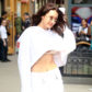 52390275 Model Bella Hadid steps out in New York City, New York on April 27, 2017. Bella was sporting a low cut sweatshirt that showed off her toned midriff and underboob. FameFlynet, Inc - Beverly Hills, CA, USA - +1 (310) 505-9876