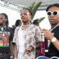 PALM SPRINGS, CA - APRIL 16:  (L-R) Rappers Offset, Quavo, and Takeoff of hip hop group Migos .perform onstage during Moet & Chandon at the REVOLVE Desert House during Coachella on April 16, 2017 in Palm Springs, California.  (Photo by Michael Kovac/Getty Images for Moet)