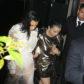 Kim Kardashian white gown Beverly Hills