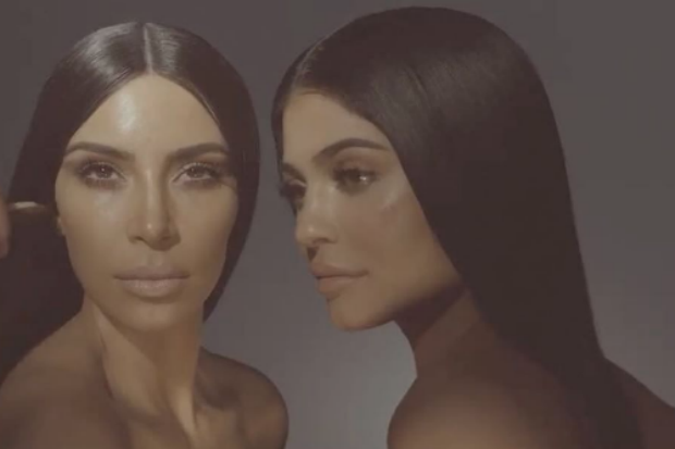 kim kardashian kylie jenner comparison twins same identical makeup
