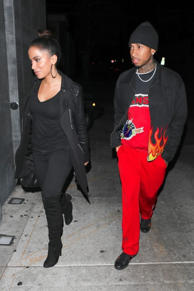 Tyga and sexy Brazilian singer Anitta step out for a sushi dinner!