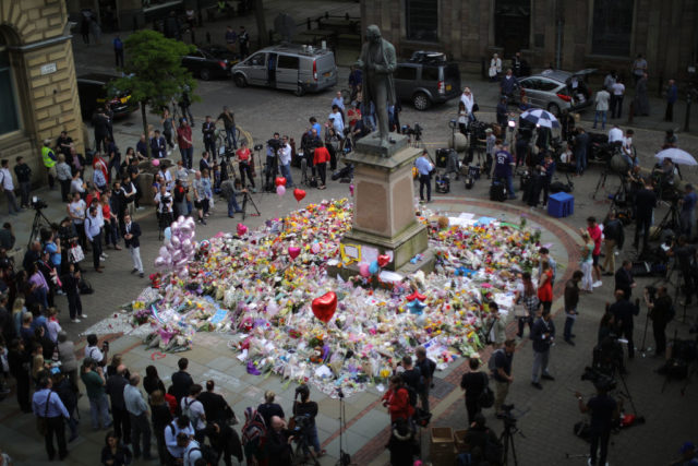 Religious Leaders Hold A Vigil For Victims Of The Manchester Arena Terrorist Attack