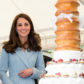 LUXEMBOURG, LUXEMBOURG - MAY 11:  Catherine, Duchess of Cambridge views a cake with a cycling design as she tours a cycling themed festival and unveils a mural of British cyclist Tom Simpson and Luxembourgish cycling legend Charly Gaul during a one day visit to Luxembourg at Place de Clairfontaine on May 11, 2017 in Luxembourg, Luxembourg.  (Photo by Jeff Spicer/Getty Images)