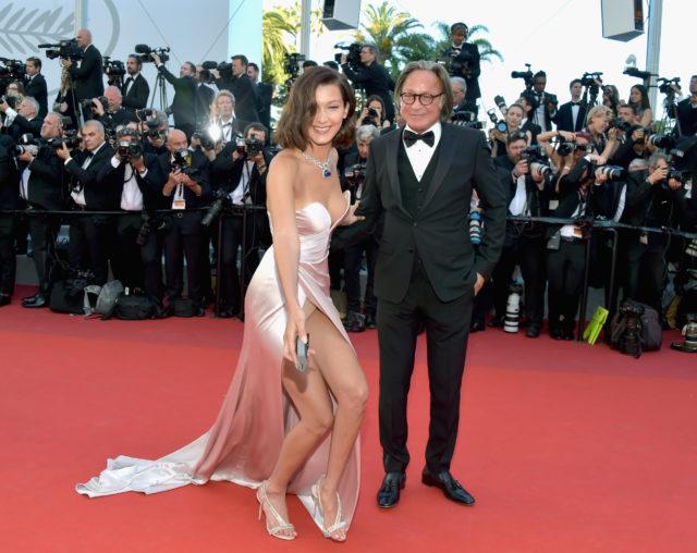 bella addii wardrobe malfunction underwear nude cannes film festival 2017