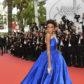 winnie harlow blue gown dress cannes film festival 2017 red carpet