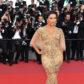 eva longoria gold dress red carpet 2017 cannes film festival