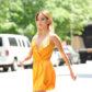 jamie chung orange yellow dress