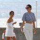 Kourtney Kardashian Kendall Jenner cannes white pink shoes