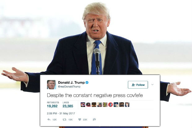 donald tump covfefe tweet meme reaction
