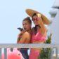 kendall jenner kourtney kardashian cannes bikini younes bendjima abs shirtless checking out ogle