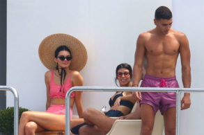 Kourtney Kardashian and Kendall Jenner Ogle Younes Bendjima's Hot Bod