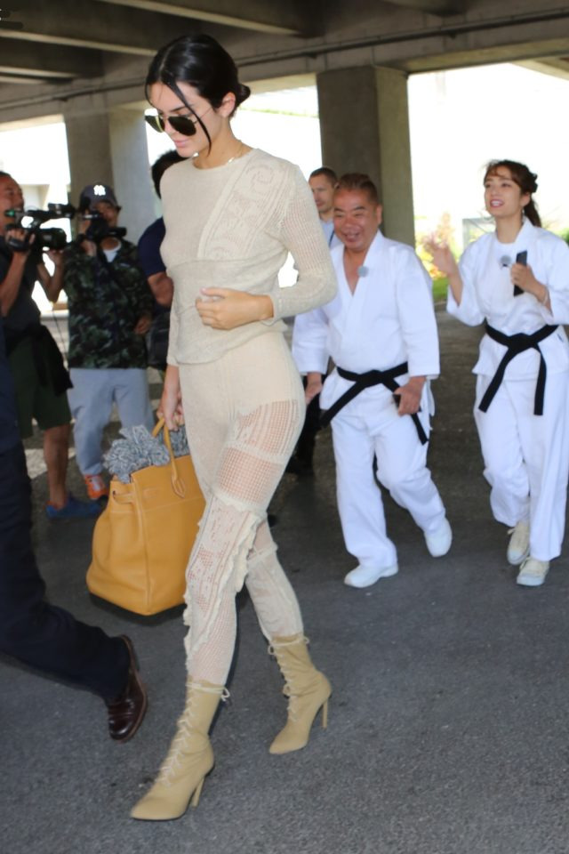 Kendall Jenner arrives in style at the Nice Airport