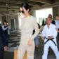 Kendall Jenner arrives at Nice airport