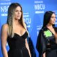 Khloe Kardashian and Kim Kardashian West attend the NBCUniversal 2017 Upfront on May 15, 2017 in New York City.  attend the NBCUniversal 2017 Upfront on May 15, 2017 in New York City.  / AFP PHOTO / ANGELA WEISS        (Photo credit should read ANGELA WEISS/AFP/Getty Images)