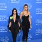 Kim Kardashian West and Khloe Kardashian attend the NBCUniversal 2017 Upfront on May 15, 2017 in New York City.  attend the NBCUniversal 2017 Upfront on May 15, 2017 in New York City.  / AFP PHOTO / ANGELA WEISS        (Photo credit should read ANGELA WEISS/AFP/Getty Images)