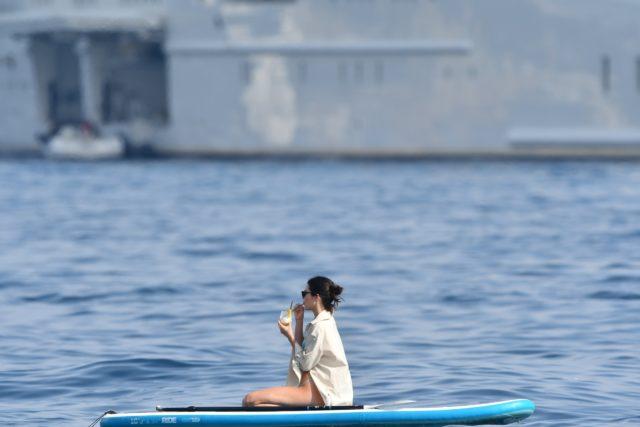 Kourtney Kardashian and boyfriend Younes Bendjima on a Yacht with Kendall Jenner