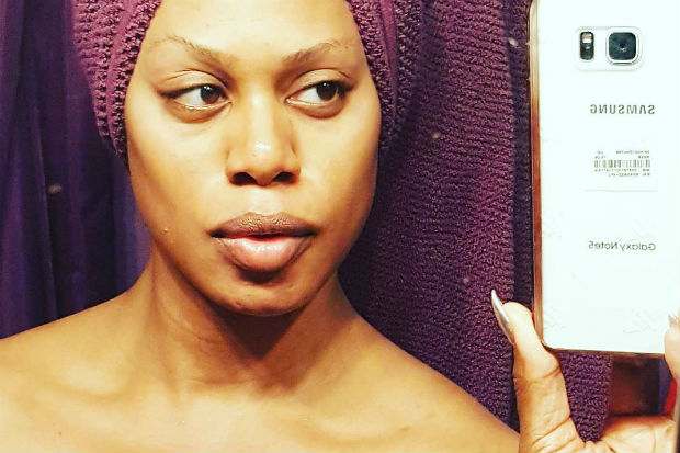 laverne cox sexy hot selfie no makeup free