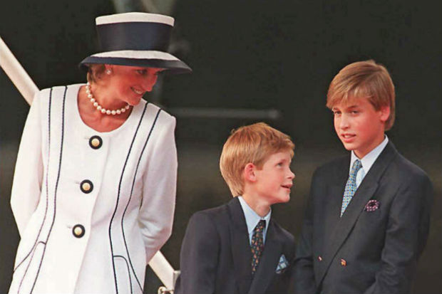 prince william harry princess diana