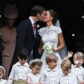 Pippa Middleton kisses her new husband James Matthews, following their wedding ceremony at St Mark's Church in Englefield, west of London, on May 20, 2017